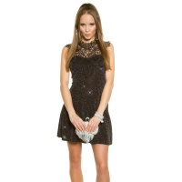 SEXY A-LINE PARTY EVENING DRESS WITH GLITTER AND EMBROIDERY SILVER