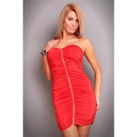 SEXY BANDEAU MINIDRESS GOGO CLUBWEAR RED