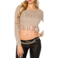 "SEXY BAUCHFREIER DAMEN PULLOVER ""LONDON"" MIT..."