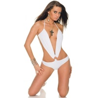 SEXY BODY TOP WHITE CLUBWEAR GOGO