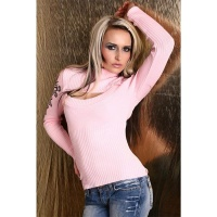 SEXY BOLERO-SWEATER WITH TRIBAL PRINTS PINK UK 10/12 (M/L)