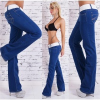 SEXY BOOTCUT JEANS 5-POCKET INCL. BELT DARK BLUE