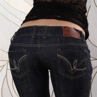 SEXY BT JEANS LOW CUT DARK DENIM HOSE DUNKELBLAU