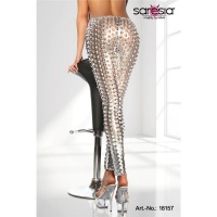 SEXY CLUBSTYLE LEGGINGS WITH HOLE PATTERN GOGO CLUBWEAR...
