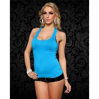 SEXY LADIES´ TANKTOP SHIRT BLUE Onesize (UK 8,10,12)