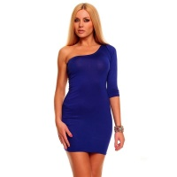SEXY ONE-ARMED MINIDRESS CLUBWEAR ROYAL BLUE UK 10/12 (M/L)