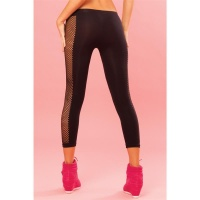 SEXY FITNESS LEGGINGS WITH MESH SPORTSWEAR BLACK