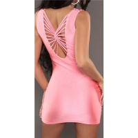 SEXY GLAMOUR MINIDRESS PARTY DRESS WITH RHINESTONES SALMON