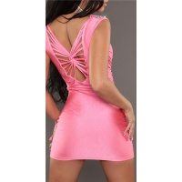 SEXY GLAMOUR MINIDRESS PARTY DRESS WITH RHINESTONES FUCHSIA