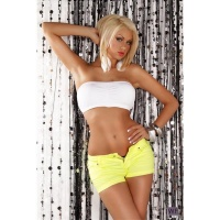 SEXY HOTPANTS SHORTS NEON GELB 38