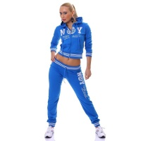 SEXY JOGGING SUIT TRACKSUIT NEW YORK OFFICIAL BLUE/WHITE UK 16 (XL)