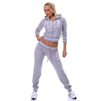 SEXY JOGGING SUIT TRACKSUIT NEW YORK OFFICIAL GREY/WHITE UK 12 (M)