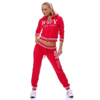 SEXY JOGGING SUIT TRACKSUIT NEW YORK OFFICIAL RED/WHITE