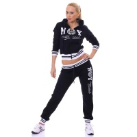 SEXY JOGGING SUIT TRACKSUIT NEW YORK OFFICIAL BLACK/WHITE