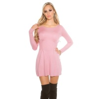 SEXY SHORT KNITTED MINIDRESS IN A-LINE SHAPE WAISTED...