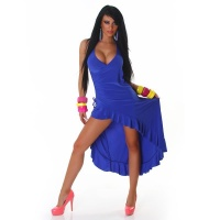 EXCLUSIVE HALTERNECK LATINO DRESS EVENING DRESS ROYAL BLUE