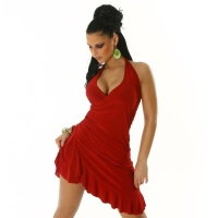 SEXY LATINO-DRESS SALSA RED Onesize (UK 8,10,12)