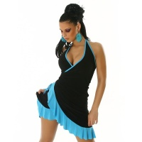 SEXY LATINO DRESS SALSA BLACK/TURQUOISE