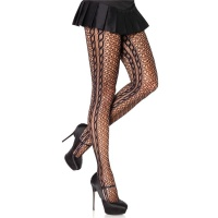 SEXY LEG AVENUE NYLON MESH TIGHTS PANTYHOSE WITH SIDE...
