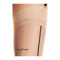 SEXY LEG AVENUE NYLON STOCKINGS WITH CUBAN HEEL AND CENTER BACK SEAM BEIGE