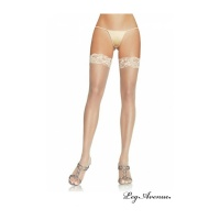 SEXY LEG AVENUE SHEER THIGH-HIGH STOCKINGS WITH LACE TOP NUDE