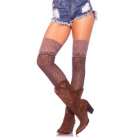 SEXY CROCHETED LEG AVENUE OVERKNEE STOCKINGS WITH LACE...
