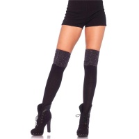 SEXY RIB-KNITTED LEG AVENUE OVERKNEE STOCKINGS WITH...