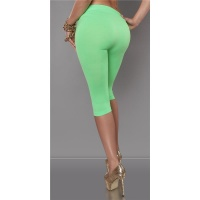 SEXY LEGGINGS IN CAPRI LENGTH NEON-GREEN Onesize (UK 8,10,12)