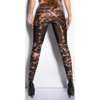 SEXY LEGGINGS WITH CHIFFON CLUBBING LEOPARD
