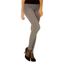 SEXY LEGGINGS IN TRENDY HOUNDSTOOTH PATTERN BLACK/WHITE