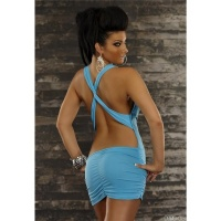 SEXY MINIDRESS CLUBWEAR BACKLESS TURQUOISE