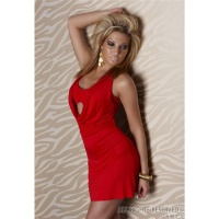 SEXY HALTERNECK MINI DRESS RED