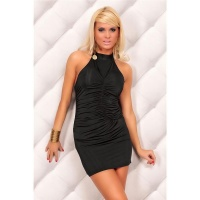 SEXY HALTERNECK MINIDRESS BLACK