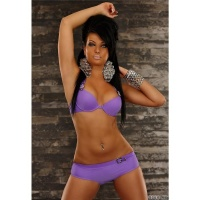 SEXY HALTERNECK PUSH-UP BIKINI BEACHWEAR PURPLE UK 10/12
