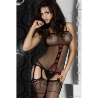 SEXY FISHNET BODYSTOCKING CATSUIT DESSOUS GOGO BLACK