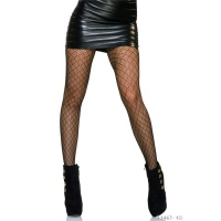 SEXY NYLON TIGHTS PANTYHOSE WITH FISHNET PATTERN BLACK
