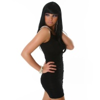 SEXY ONE-SHOULDER MINIKLEID SCHWARZ