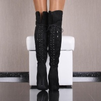 SEXY OVERKNEE STIEFEL IN WILDLEDER-OPTIK MIT...
