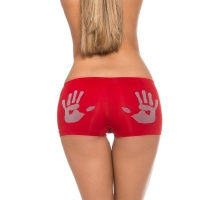 SEXY PANTY WITH HANDPRINT MOTIVE LINGERIE RED/GREY