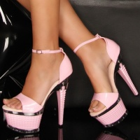 SEXY PLATFORMS HIGH HEELS GOGO PINK UK 4