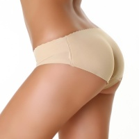 SEXY BUTT PUSH-UP PANTY WITH FOAM PADS BEIGE UK 12 (L)