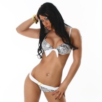 SEXY PUSH-UP BIKINI BEACHWEAR WHITE UK 12