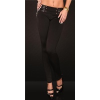 SEXY DRAINPIPE PANTS CLOTH PANTS BLACK UK 8 (S)