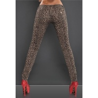 SEXY DRAINPIPE JEANS IN LEOPARD-LOOK BEIGE/BROWN