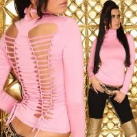 SEXY SHIRT WITH RIFTS CLUBWEAR PINK