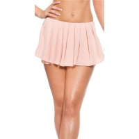 SEXY SKORT SHORTS WITH PLEATS SALMON