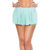 SEXY SKORT SHORTS WITH PLEATS MINT GREEN