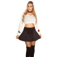 SEXY STRETCH MINISKIRT IN A-LINE FORM BLACK