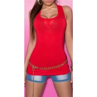 SEXY TANKTOP RED Onesize (UK 8,10,12)