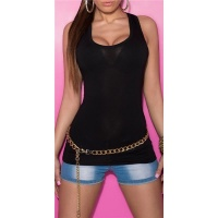 SEXY TANKTOP BLACK Onesize (UK 8,10,12)